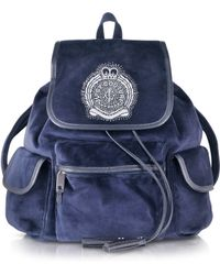 Juicy Couture - Iconic Crest Velour Backpack - Lyst