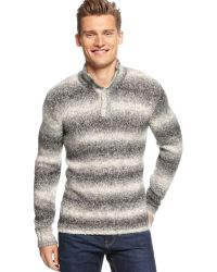 Calvin Klein Macys Exclusive Space Dyed Mock Neck Sweater - Lyst