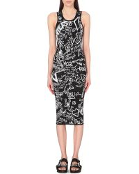 McQ by Alexander McQueen Graffiti-Print Jacquard-Knit Dress - For Women - Lyst