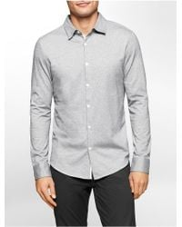 CALVIN KLEIN 205W39NYC - White Label Slim Fit Geometric Jacquard Shirt - Lyst