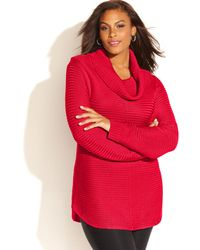 Calvin Klein 'S Plus Size Ribbed-Knit Sweater - Lyst