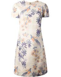 Tory Burch Flower Bird Print Dress - Lyst