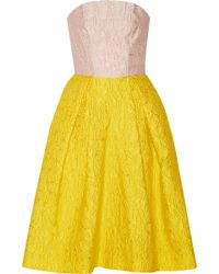 Mary Katrantzou Jq Nevis Two-tone Alphabet-jacquard Dress - Lyst