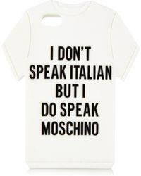 Moschino Printed T-Shirt Iphone® 5 Case - Lyst