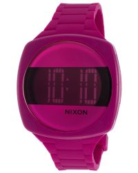 Nixon Womens Dash Pink Silicone Pink and Black Dial - Lyst