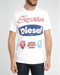 Diesel White Chrestos Printed T-Shirt white - Lyst