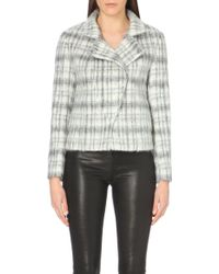 J Brand Esther Checked Wool-Blend Jacket - For Women - Lyst