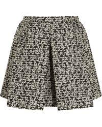Giambattista Valli Pleated Metallic Tweed Mini Skirt - Lyst