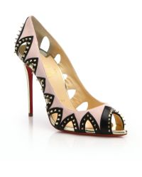 Christian Louboutin | Circus City Embellished Cut-Out Leather Pumps | Lyst