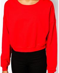 American Apparel - Boxy Sweatshirt - Lyst