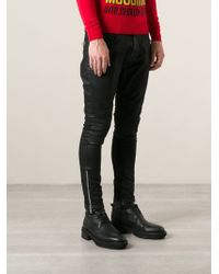 Moschino Black Skinny Jeans - Lyst