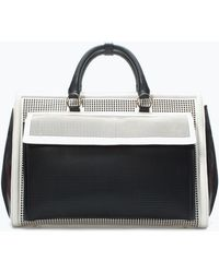 Zara Perforated Office City Bag - Lyst