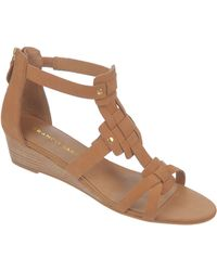 Franco Sarto - Ulysses Nubuck Leather Wedge Sandals - Lyst