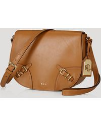 Ralph Lauren Lauren Crossbody Lauren Saddle Bag - Lyst