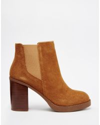 Oasis | Premium 70's Suede Ankle Boots | Lyst