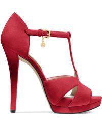 Michael Kors Michael Francoise T-strap Platform Sandals - Lyst