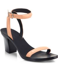 Alexander Wang Ilva Leather Block-Heel Sandals - Lyst