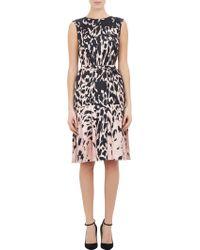 J. Mendel Animal-Print Drop-Waist Dress - Lyst