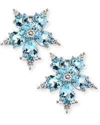 Paul Morelli - Large Stellanise Aquamarine & Diamond Stud Earrings - Lyst