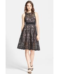 Jay Godfrey 'Lex' Embroidered Lace Fit & Flare Dress - Lyst