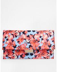 Asos Floral Print Clutch Bag - Lyst