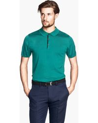 H&M Polo Shirt in A Silk Mix - Lyst