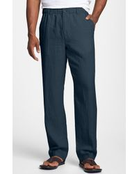 Tommy Bahama 'New Linen On The Beach' Easy Fit Pants blue - Lyst