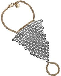 Sam Edelman - Rodeo Show Two-Tone Studded Hand Chain - Lyst