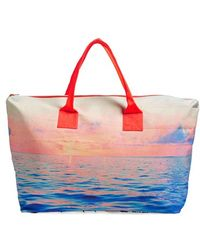 Samudra - 'lagoon Sunsets' Canvas Weekend Bag - Lyst