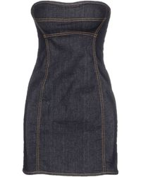 DSquared² Short Dress blue - Lyst