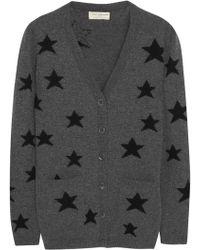 Chinti & Parker Star Intarsia Wool Cardigan gray - Lyst