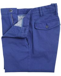 Canali Stretch Textured Cotton Bermuda Shorts blue - Lyst