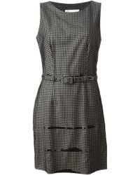 Moschino Cheap & Chic Belted Checked Dress - Lyst