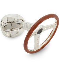 Deakin & Francis Silver Steering Wheel Cufflinks - Lyst