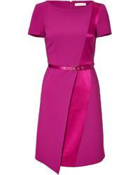 Matthew Williamson Satin Pleat Dress - Lyst