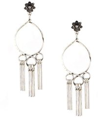 Gerard Yosca - Crystal Drop Circle Drop Earrings - Lyst