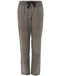 Sea Mosaic and Diamond Print Trousers - Lyst