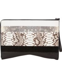 Narciso Rodriguez Paneled Clutch - Lyst