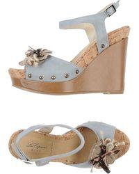 Blue Les Copains - Sandals - Lyst