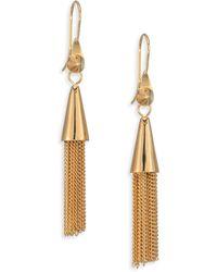 Eddie Borgo Small Chain Tassel Earrings - Lyst