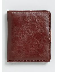 Topman Brown Bifold Wallet - Lyst