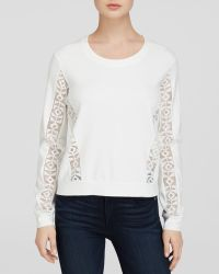 Generation Love Sweatshirt - Tribal Lace Trim Long Sleeve - Lyst