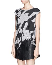 Stella McCartney Dogstooth Graphic Top - Lyst