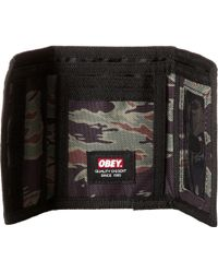 Obey - Quality Dissent Trifold Wallet - Lyst