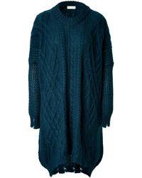 Vionnet Mohair Blend Deconstructed Tunic Dress - Lyst