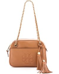 Tory Burch Thea Chain Cross Body Bag - Bark - Lyst
