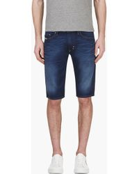 Diesel Blue Denim Thashort Shorts - Lyst