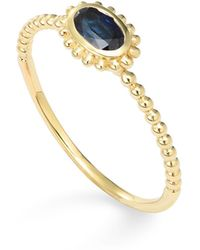 Lagos | 18k Gold Oval Sapphire Stackable Ring | Lyst