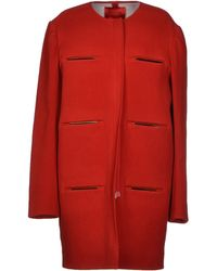 Lanvin Red Coat - Lyst