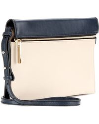 Victoria Beckham Zip Twotone Leather Shoulder Bag - Lyst
